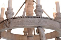 Large Painted Wooden Chandelier - 1466827
