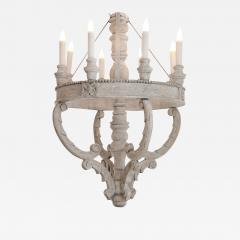 Large Painted Wooden Chandelier - 1676595
