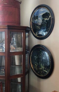 Large Pair of 19th Century Italian Glazed Majolica Framed Plaques - 1955690