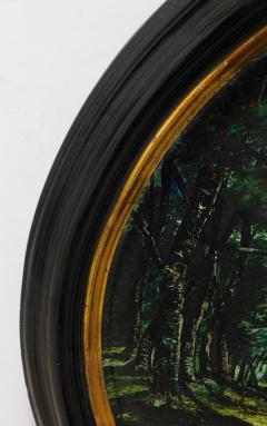 Large Pair of 19th Century Italian Glazed Majolica Framed Plaques - 1955691