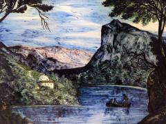Large Pair of 19th Century Italian Glazed Majolica Framed Plaques - 1955695