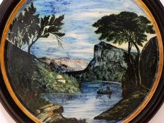 Large Pair of 19th Century Italian Glazed Majolica Framed Plaques - 1955696
