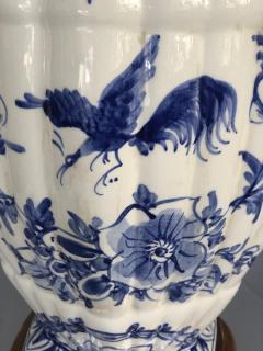 Large Pair of Dutch Delftware Blue White Glazed Ginger Jar Lamps - 1934589