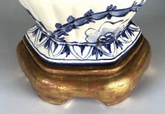 Large Pair of Dutch Delftware Blue White Glazed Ginger Jar Lamps - 1934591