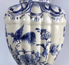 Large Pair of Dutch Delftware Blue White Glazed Ginger Jar Lamps - 1934594