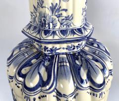 Large Pair of Dutch Delftware Blue White Glazed Ginger Jar Lamps - 1934596