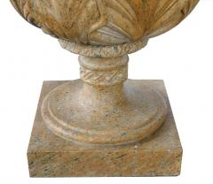 Large Pair of French Neoclassical Style Carved Buff Granite Pineapple Finials - 1637008