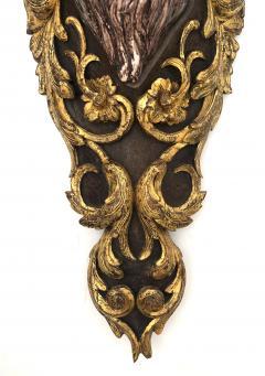 Large Pair of Italian Baroque Style Majolica Bacchus Corbels Brackets - 1955668