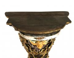 Large Pair of Italian Baroque Style Majolica Bacchus Corbels Brackets - 1955670