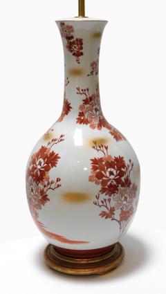 Large Pair of Japanese Kutani Porcelain Lamps - 1941500