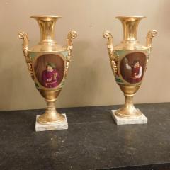 Large Pair of Old Paris Empire Porcelain Vases - 753785