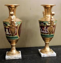 Large Pair of Old Paris Empire Porcelain Vases - 753788