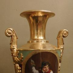 Large Pair of Old Paris Empire Porcelain Vases - 753789
