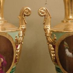 Large Pair of Old Paris Empire Porcelain Vases - 753791