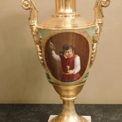 Large Pair of Old Paris Empire Porcelain Vases - 753793