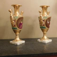 Large Pair of Old Paris Empire Porcelain Vases - 753794