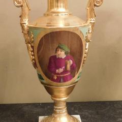 Large Pair of Old Paris Empire Porcelain Vases - 753795