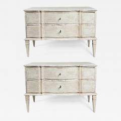 Large Pair of Scandinavian Baroque Style Painted Chests - 1476109