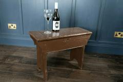 Large Pine Chapel Stool End Table with Storage - 1970050