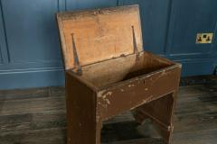 Large Pine Chapel Stool End Table with Storage - 1970054