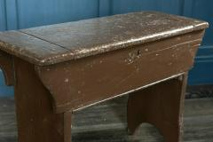 Large Pine Chapel Stool End Table with Storage - 1970057