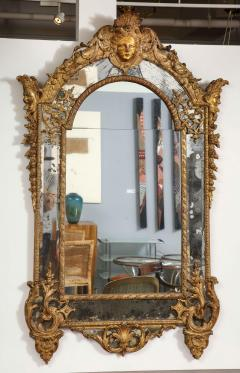 Large R gence Carved Giltwood Wall Mirror - 1945304