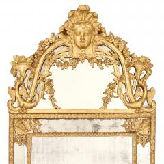 Large R gence period carved giltwood wall mirror - 1287212