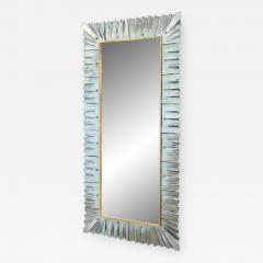 Large Rectangular Murano Sea Green Glass Framed Mirror - 1298149