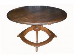 Large Round Alpine Early 19th Century Pine Table - 511389
