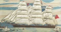 Large Sailors Woolwork of a British Merchant Navy Ship Coming into Port - 1728029