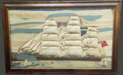 Large Sailors Woolwork of a British Merchant Navy Ship Coming into Port - 1728031