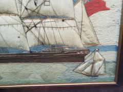 Large Sailors Woolwork of a British Merchant Navy Ship Coming into Port - 1728034