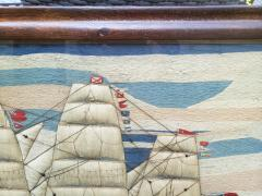 Large Sailors Woolwork of a British Merchant Navy Ship Coming into Port - 1728035