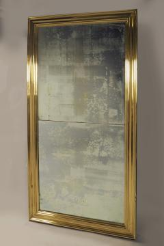Large Scale Brass Framed Mirror France late 19th Century - 1180139