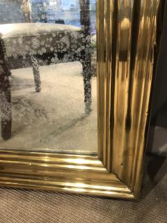 Large Scale Brass Framed Mirror France late 19th Century - 1180144