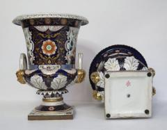 Large Scale Pair of Royal Crown Derby Style Campana Urns - 1912623