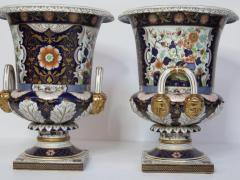 Large Scale Pair of Royal Crown Derby Style Campana Urns - 1912627