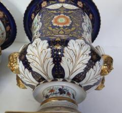 Large Scale Pair of Royal Crown Derby Style Campana Urns - 1912629