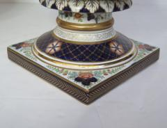 Large Scale Pair of Royal Crown Derby Style Campana Urns - 1912630