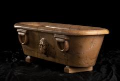 Large Scale Reduction of a Bath Carved Giallo Antico Marble Sculpture - 2075399