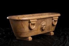 Large Scale Reduction of a Bath Carved Giallo Antico Marble Sculpture - 2075400