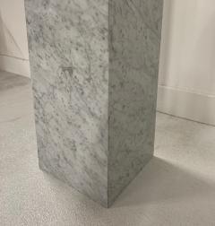 Large Scale Teak Apple Sculpture on Carrara Marble Pedestal - 1137228