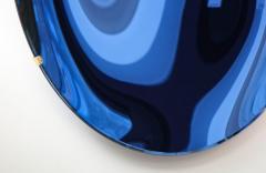 Large Sculptural Round Concave Cobalt Blue Mirror Italy 2021 - 1998464