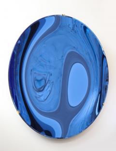 Large Sculptural Round Concave Cobalt Blue Mirror Italy 2021 - 1998467