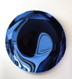 Large Sculptural Round Concave Cobalt Blue Mirror Italy 2021 - 1998469