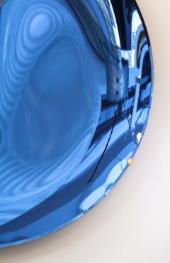 Large Sculptural Round Concave Cobalt Blue Mirror Italy 2021 - 1998470