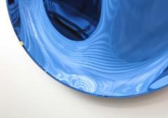 Large Sculptural Round Concave Cobalt Blue Mirror Italy 2021 - 1998471