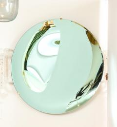 Large Sculptural Round Concave Green Verde Mirror Italy 2021 - 2004404