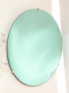 Large Sculptural Round Concave Green Verde Mirror Italy 2021 - 2004406