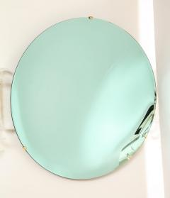 Large Sculptural Round Concave Green Verde Mirror Italy 2021 - 2004407